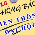 thong bao tuyen sinh lien thong dai hoc 2016