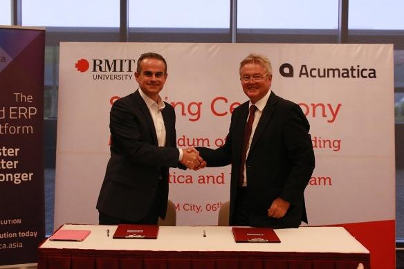 Đại học RMIT Việt Nam và công ty Acumatica vừa ký kết cùng hợp tác