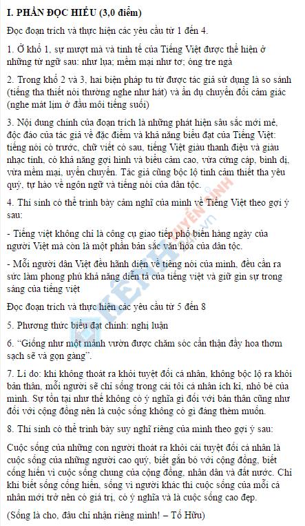 Huong dan dap an phan 1 de thi ngu van ky thi thpt quoc gia 2016