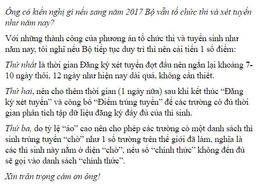 "ha diem chuan tuyen sinh bo sung vi thi sinh ""ao"""