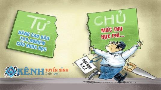 Nhieu truong dai hoc tu chu chua cong khai muc thu hoc phi 2016 truoc tuyen sinh