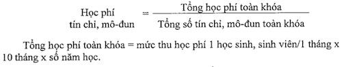 hoc phi dai hoc