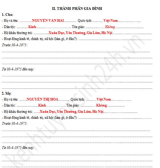 trang 3 so yeu ly lich hoc sinh sinh viên
