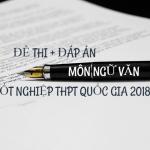đề thi đáp an môn văn thpt 2018