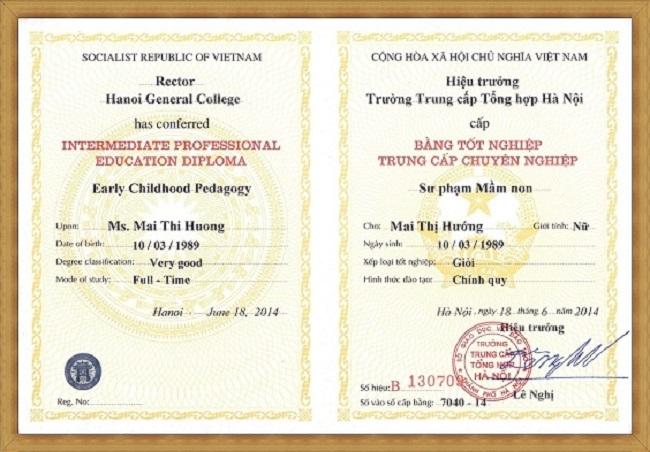 Bang Tong Hop Ha Noi 2 - Tuyển Sinh Trung Cấp Sư Phạm Mầm Non 2019