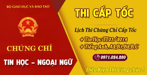Chung chi - Chứng Chỉ Tin Học TT03/2014 Cấp Tốc