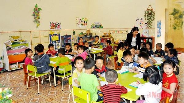 Lớp học ở trường mầm non công lập